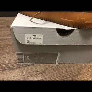 Nike Shoes | Worn 6510 Air Force 1 Mid 07 Flax Qs Size 10